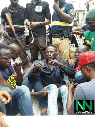 Some apprehended Suspects in connection with Badoo