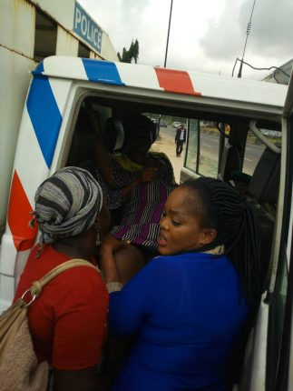 The pregnant woman being rushed to Island Hospital today
