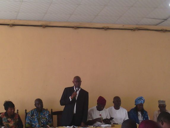 Akinreti addressing the Congress at LTV, Ikeja, Lagos Saturday