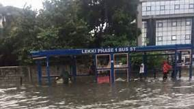 Flooded bus station