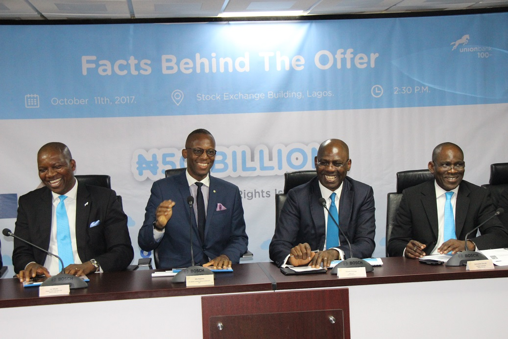 Union Bank Explains Facts Behind its N50bn Rights Issue Offer at the ...