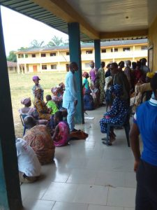 Patients awaiting their turn