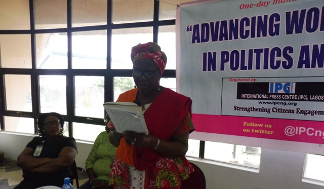 Mrs. Jumoke Anifowoshe delivering her paper at the event