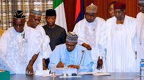 President Muhammadu Buhari has eventually signed the 2018 Budget into law, saying inspite of late passage of the budget, he would do his best to implement the 2018 budget.