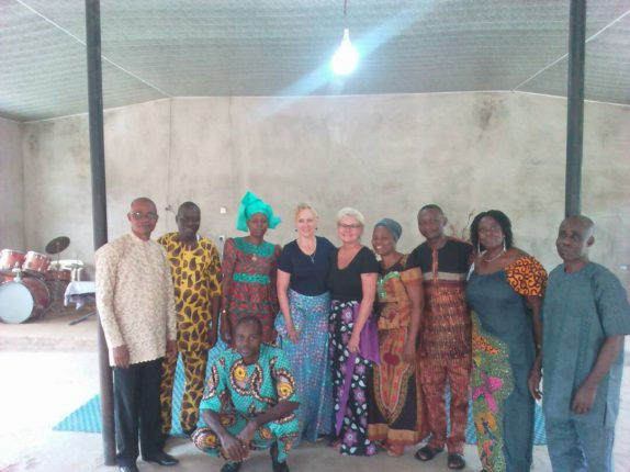 Jules and Cindy with some members of Christ's Fragrance Church during their visit to the church recently...