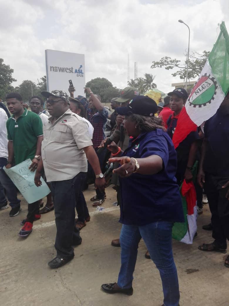 NLC/TUC protest inhuman treatment