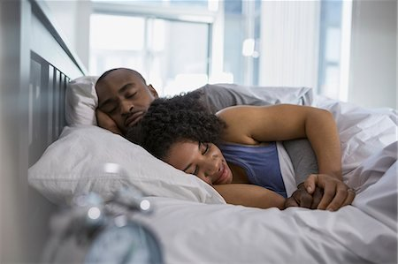 The most popular sleep position - adopted by 34 per cent of couples - is one known as 'The Separation'; where partners will sleep facing apart with a space in-between. But it could also indicate your partner has been unfaithful