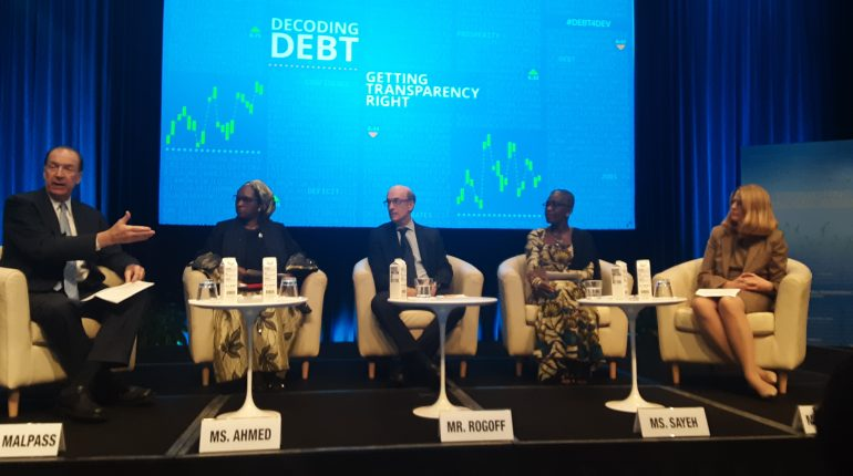 Malpass, Ahmed and other Panelists on Borrowing and Transparency