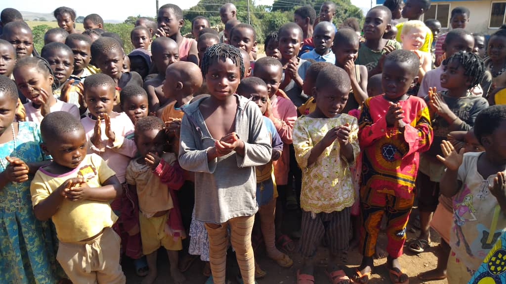 Cameroonian children at  the Ogoja camp in Cross Rivers State Nigeria